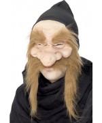 Masque de sorcier adulte, transformez-vous en gnome ou magicien - masque halloween