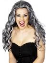 longue perruque noire et grise de vampire BZ237A - perruques halloween