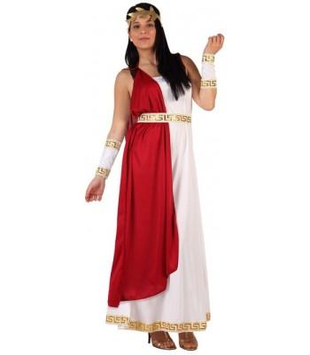 Déguisement impératrice romaine rouge