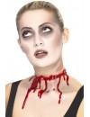 fausse plaie barbelé, réalisez un maquillage de zombie des plus gore grâce à cette gorge tranchée en latex
