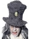 Chapeau haut de forme gris halloween